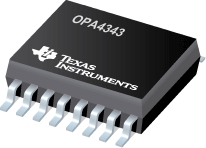 OPA4343 (ACTIVE) Single-Supply, Rail-to-Rail Operational Amplifiers MicroAmplifier(TM) Series
